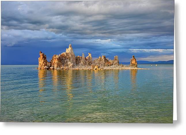 Beauty Mark Photographs Greeting Cards - Mono Lake Tufa Greeting Card by Mark Whitt