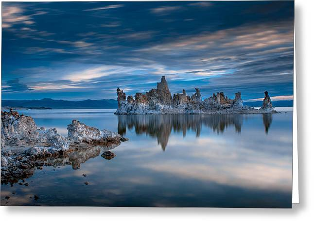 Mono Lake Tufas Greeting Card by Ralph Vazquez