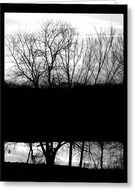Black Berries Greeting Cards - Monochromatic Sunset Greeting Card by Chris Berry