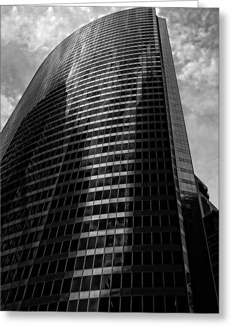 The Nature Center Greeting Cards - Monolith of Glass and Steel Greeting Card by Simmie Reagor