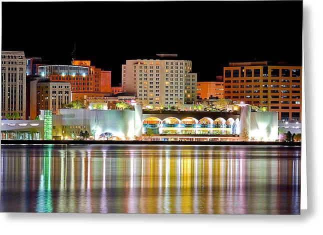 Monona Terrace Reflections Greeting Card by Todd Klassy