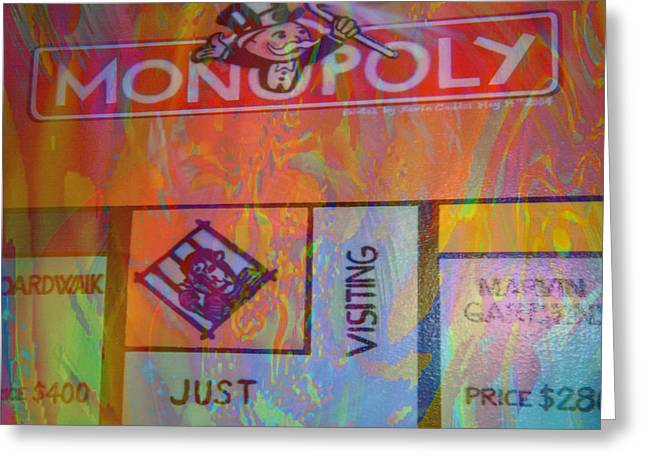 Monopoly Dream Greeting Card by Kevin Caudill