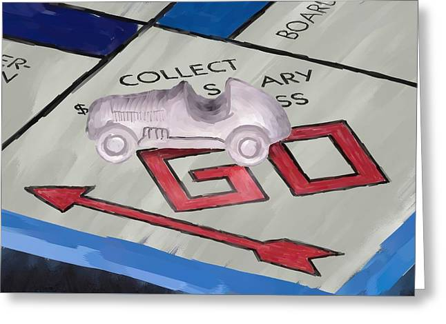 Board Game Greeting Cards - Monopoly Go Greeting Card by Paul Freidlund