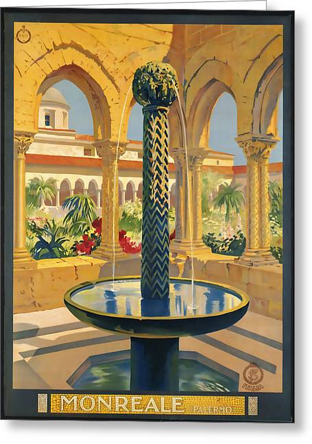 Monreale Palermo Greeting Card by David Wagner