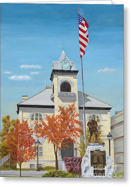 Public Administration Greeting Cards - Monroe County Courthouse Greeting Card by Austin Burke