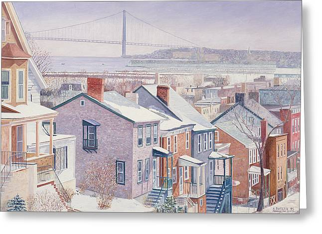 In-city Greeting Cards - Monroe St Staten Island Greeting Card by Anthony Butera