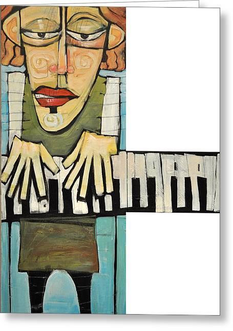 Monsieur Keys Greeting Card by Tim Nyberg
