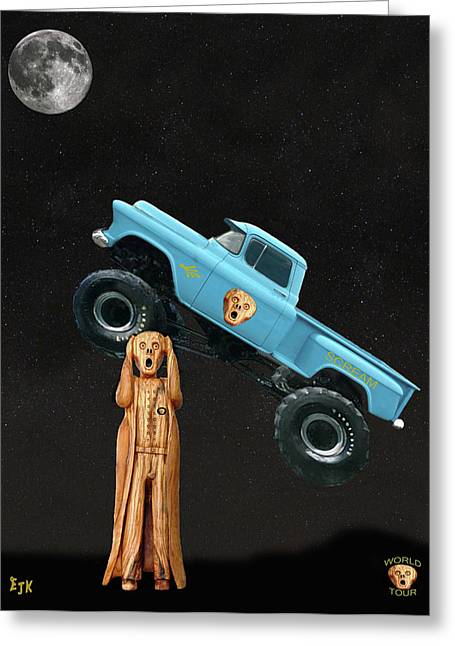 Monster Truck The Scream World Tour  Greeting Card by Eric Kempson