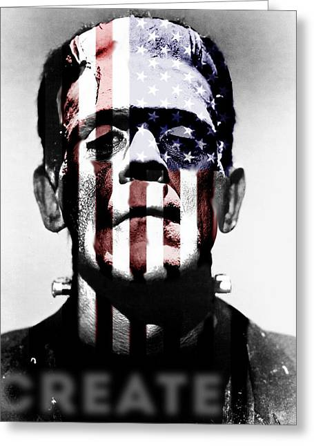 Universal Monsters Greeting Cards - Monster USA Greeting Card by Create Art