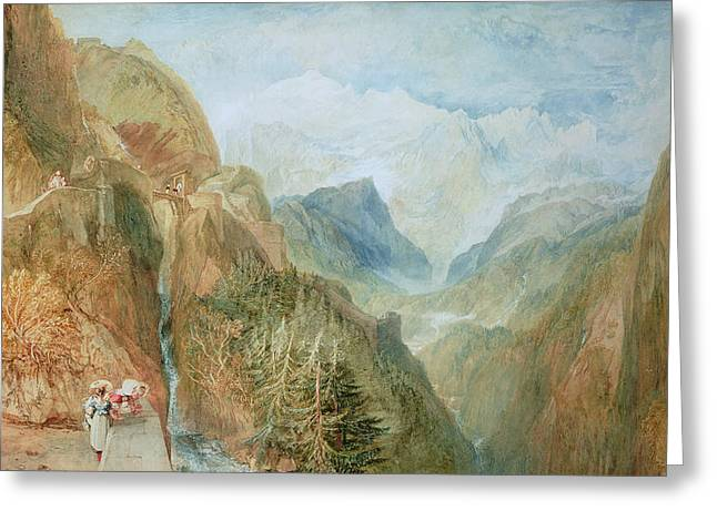 Visitors Paintings Greeting Cards - Mont Blanc Greeting Card by Joseph Mallord William Turner