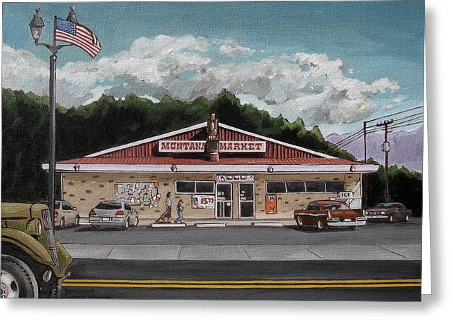 Montana Market Greeting Card by Steve Beaumont