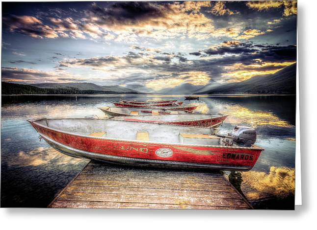 Montana Outboard Greeting Card by Spencer McDonald