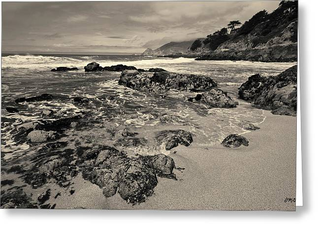 Montara Beach I Toned Greeting Card by David Gordon