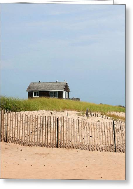 Montauk Beach House Greeting Card by Art Block Collections