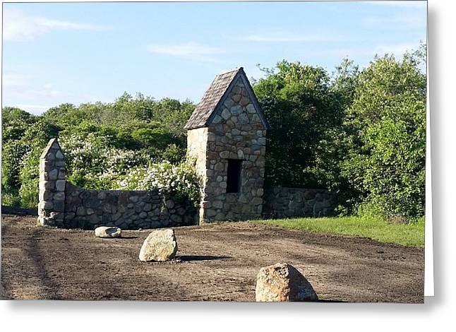 Popular Art Greeting Cards - Montauk Guard House 1 Greeting Card by Rob Hans