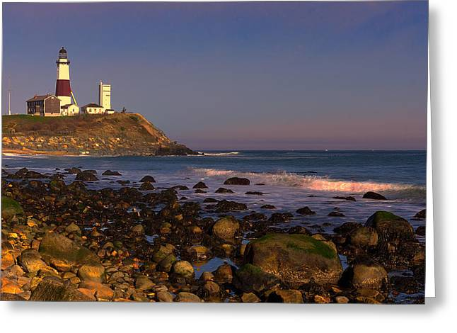 Montauk Lighthouse Greeting Card by William Jobes