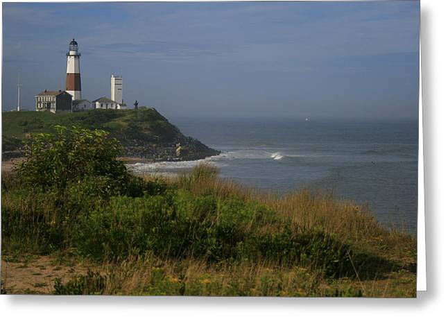 Long Greeting Cards - Montauk Point Greeting Card by Christopher Kirby
