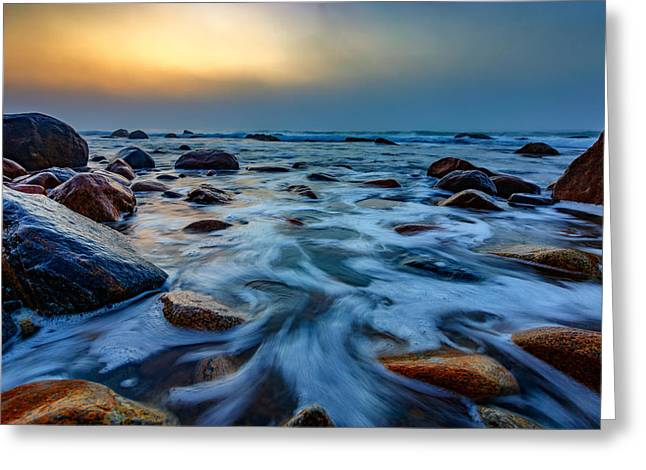 Montauk Point II Greeting Card by Rick Berk