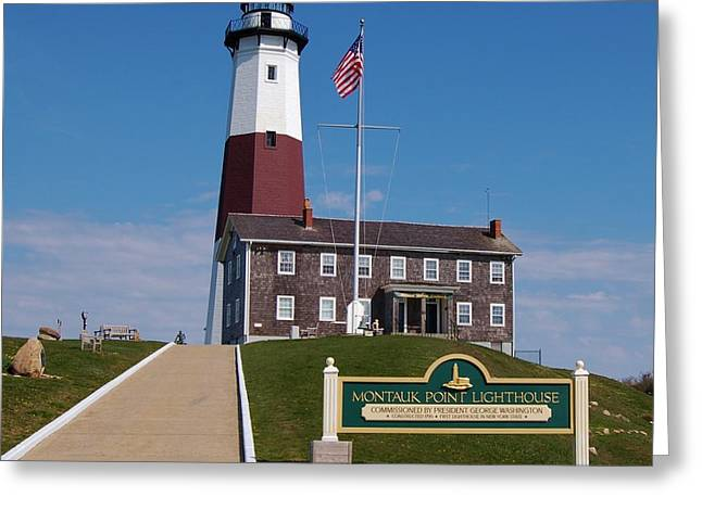 Historic Ship Greeting Cards - Montauk Point Lighthouse Greeting Card by Christopher James