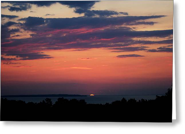 Sunset Seascape Greeting Cards - Montauk Twilight Greeting Card by Christopher Kirby
