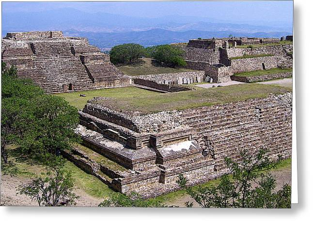 Monte Alban Greeting Card by Michael Peychich