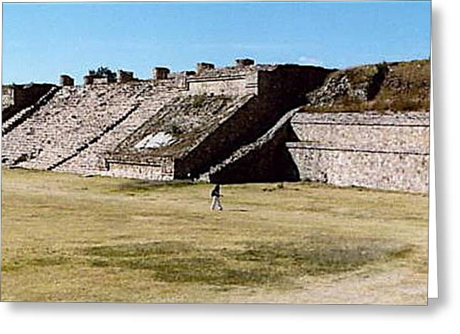 Monte Alban Panorama Greeting Card by Michael Peychich