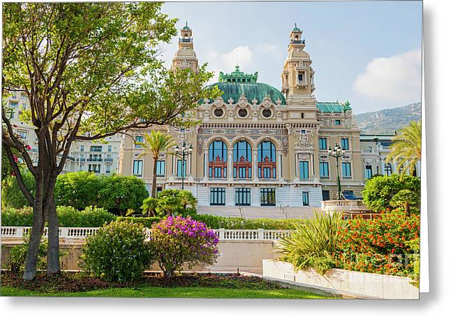 Monte Carlo Casino Greeting Card by Elena Elisseeva