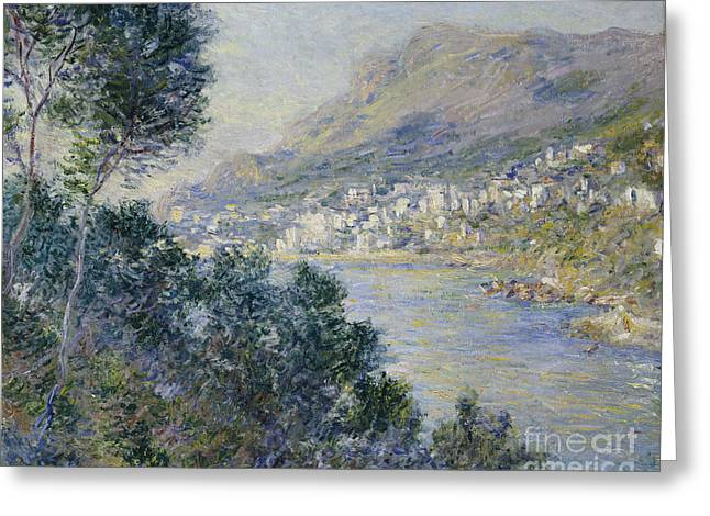 Docked Sailboats Paintings Greeting Cards - Monte Carlo Greeting Card by Claude Monet