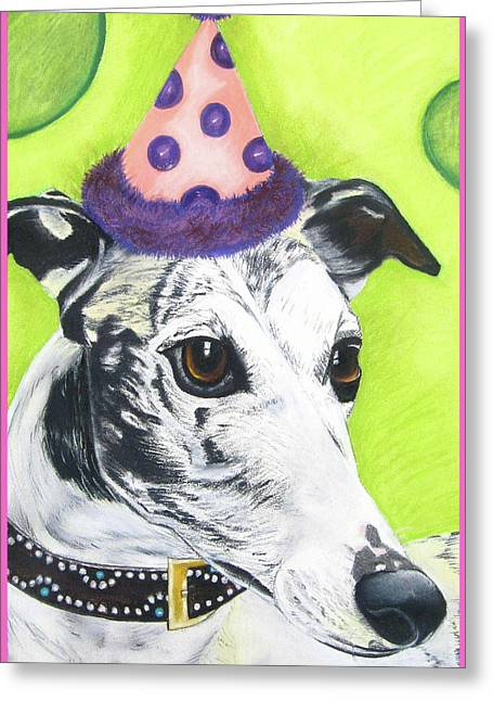 Canines Art Pastels Greeting Cards - Monte Greeting Card by Michelle Hayden-Marsan