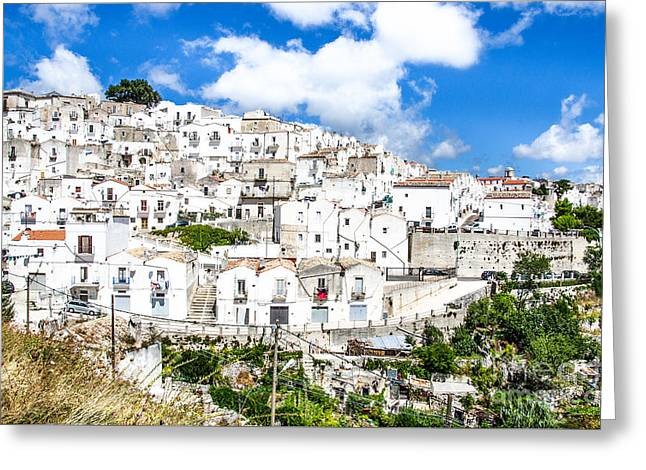 Monte Sant Angelo Canvas - Prints South Italy Village - Gargano  Greeting Card by Luca Lorenzelli