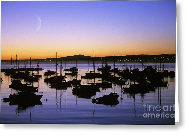 Howell Greeting Cards - Monterey Bay Boats Greeting Card by Michael Howell - Printscapes