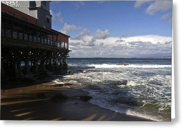 Ocean Landscape Greeting Cards - Monterey Bay Pier 2 Greeting Card by D