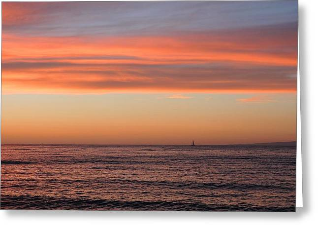 Monterey Bay Sunset Greeting Card by Connor Beekman