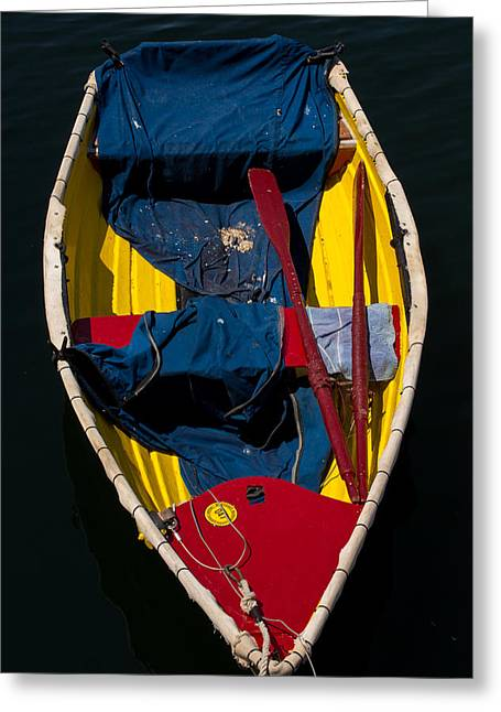 Ocean Art Photography Greeting Cards - Monterey Skiff Greeting Card by John Daly