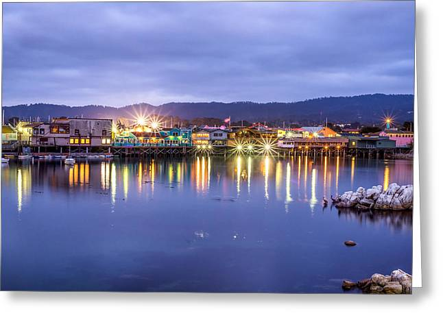 Monterey California Greeting Cards - Monterey Wharf Greeting Card by Joseph S Giacalone