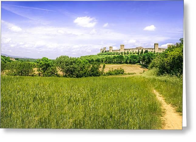 Monteriggioni Fields Greeting Card by Luca Lorenzelli