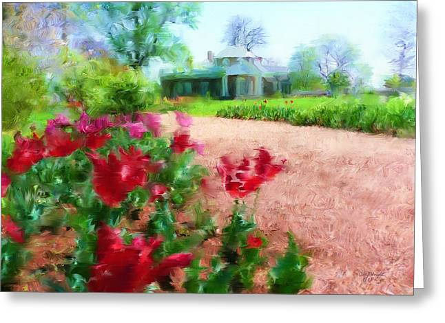 Monticello Greeting Card by Cindy Wright