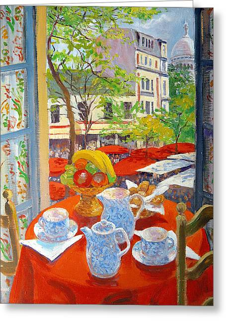 Montmartre Greeting Card by William Ireland