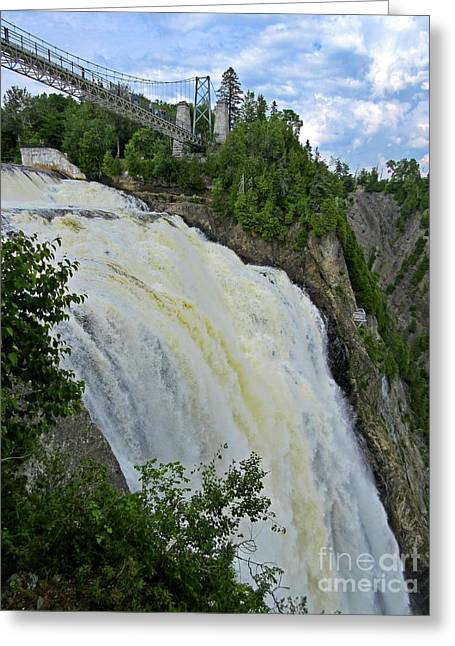 Famous Bridge Greeting Cards - Montmorency Park Quebec Greeting Card by Crystal Loppie