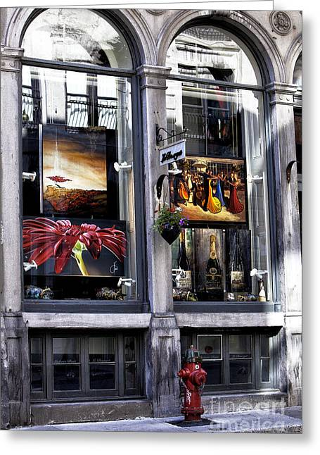 Montreal Art Greeting Cards - Montreal Art Gallery Greeting Card by John Rizzuto