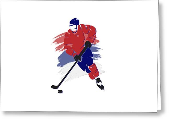 Montreal Canadiens Player Shirt Greeting Card by Joe Hamilton