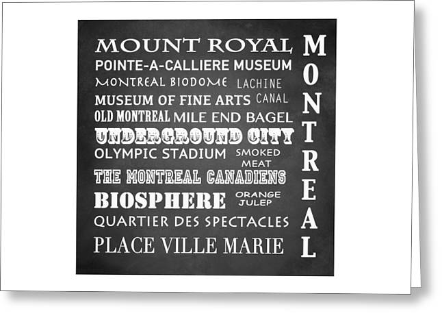 Orange Julep Greeting Cards - Montreal Famous Landmarks Greeting Card by Patricia Lintner