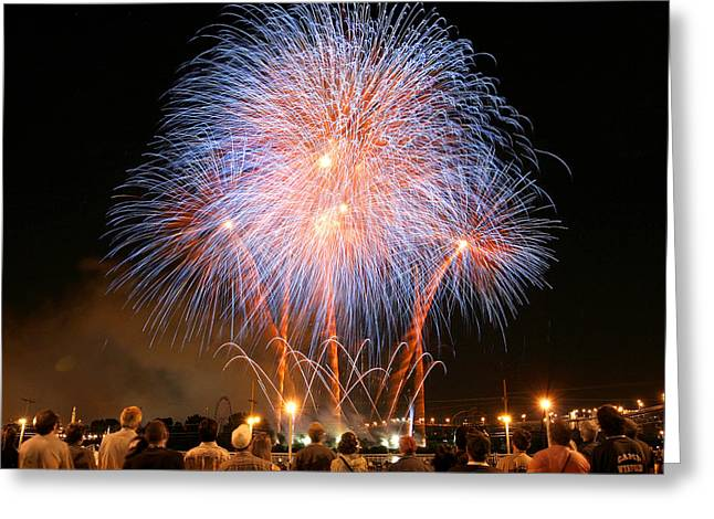 Montreal Fireworks Celebration  Greeting Card by Pierre Leclerc Photography