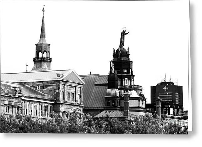 Old Montreal Greeting Cards - Montreal Port View Greeting Card by John Rizzuto