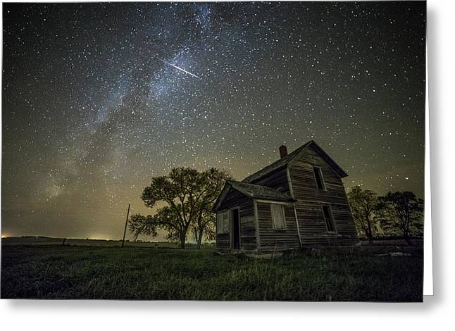 Montrose Orionid Greeting Card by Aaron J Groen