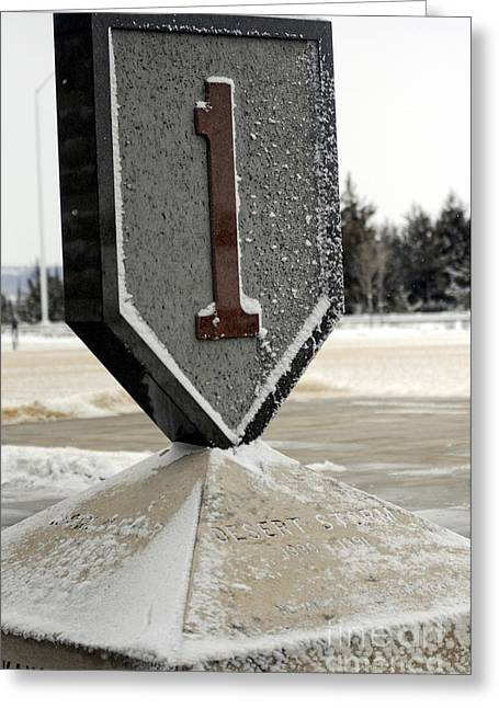Monument Commemorating The 1st Infantry Greeting Card by Stocktrek Images