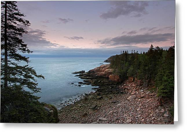 Photo Art Gallery Greeting Cards - Monument Cove Maine Acadia National Park Greeting Card by Juergen Roth