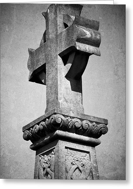 Ira Greeting Cards - Monument Cross Macroom Ireland Greeting Card by Teresa Mucha