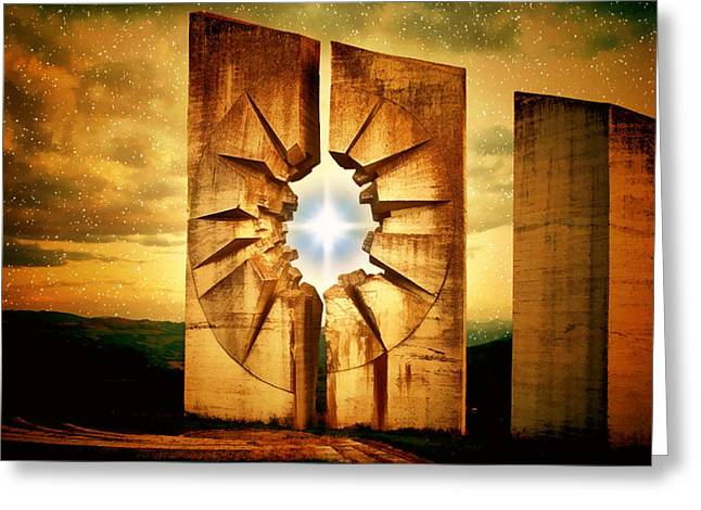 Sunset Greeting Cards Greeting Cards - Monument to the Stars Greeting Card by Mario Carini