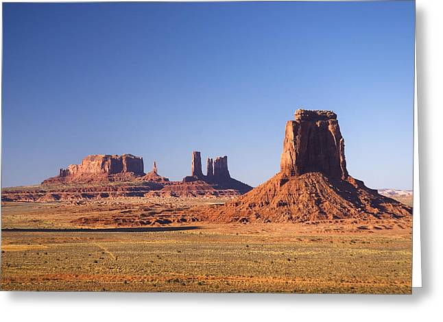 Monolith Greeting Cards - Monument Valley 4 Greeting Card by Wayne Stadler